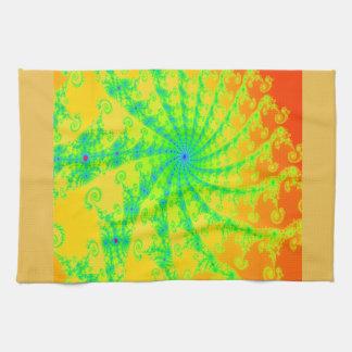 Fancy Bright Fractal Design Kitchen Towels