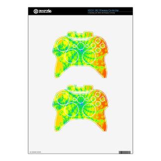 Fancy Bright Fractal Design Xbox 360 Controller Skin