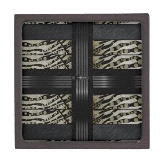 Fancy Brown Black Zebra Gift Box