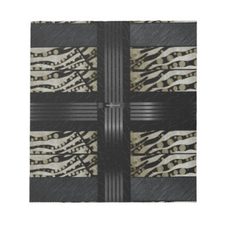 Fancy Brown Black Zebra Notepad