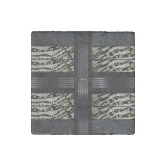 Fancy Brown Black Zebra Stone Magnet