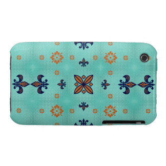 Fancy Brown Blue iPhone 3 Cases