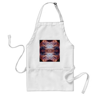 Fancy Brown Butterfly or Moth Space Art Adult Apron