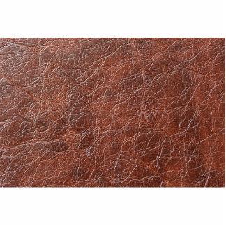 Fancy Brown Leather Pattern Statuette