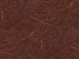 Fancy Brown Swirl Faux Leather Shower Curtain