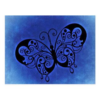Fancy Butterfly on a Blue Denim background Postcard