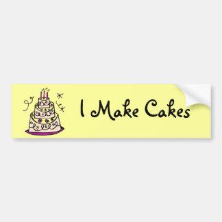 Fancy Cake Bumper Stickers