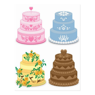 Fancy cakes postcard