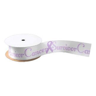 Fancy Cancer Survivor Satin Ribbon
