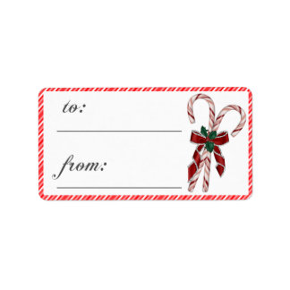 Fancy Candy Cane Gift Tags