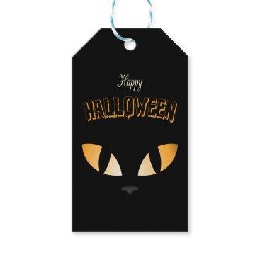 Halloween Themed Fancy Cat Eyes- Halloween Gift Tags