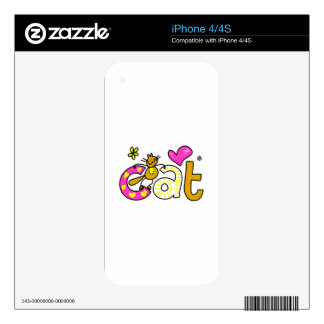Fancy Cat - Word Print iPhone 4 Decal