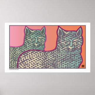 Fancy Cats-Print