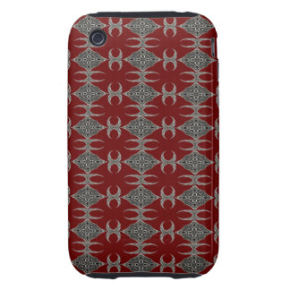 Fancy Chainmail on Dark Red Tough iPhone 3 Covers