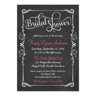 Fancy Chalkboard Bridal Shower Invitations