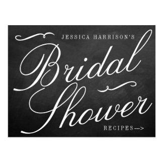 Fancy Chalkboard Bridal Shower Recipe Cards