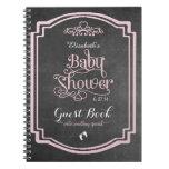 Fancy Chalkboard Look Baby Shower Guest Book Notebook
