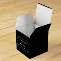 Fancy Chalkboard Vintage Wedding Favor Box