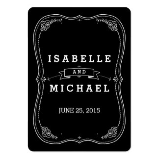 Fancy Chalkboard Vintage Wedding Gift Tag Large Business Card