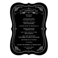 Fancy Chalkboard Vintage Wedding Program