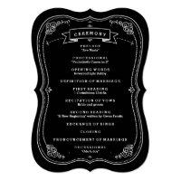 Fancy Chalkboard Vintage Wedding Program