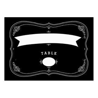 Fancy Chalkboard Vintage Wedding Seating Card Large Business Cards (Pack Of 100)