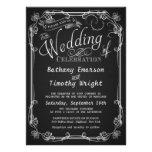 Fancy Chalkboard Wedding Invitations