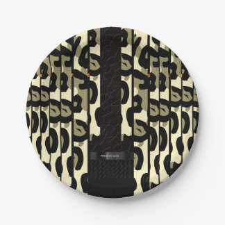Fancy Cheetah Camo Paper Plate