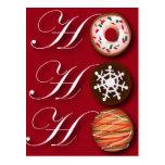 Fancy Christmas Hohoho Cookies Postcard
