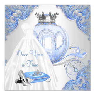 Fancy Cinderella Princess Birthday Party Card