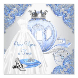 Fancy Cinderella Princess Birthday Party Invitation