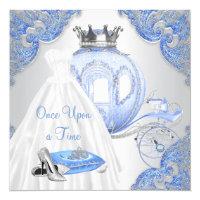 Fancy Cinderella Princess Birthday Party Invitation