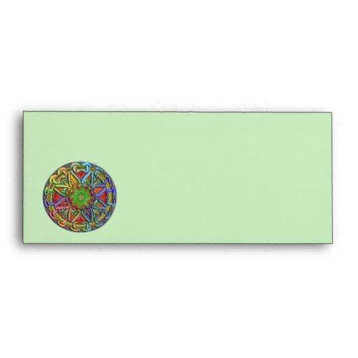 Fancy Circle Floral Design Envelopes