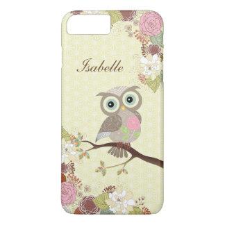 Fancy Cocking Head Owl in Flowers iPhone 7 Plus iPhone 7 Plus Case