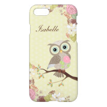 Fancy Cocking Head Owl in Flowers Savvy iPhone 7 iPhone 7 Case