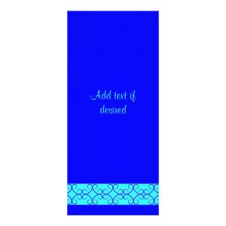 Fancy colorblock blue colors personalized rack card