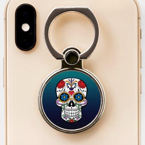 Fancy Colorful Floral Sugar Skull Phone Case
