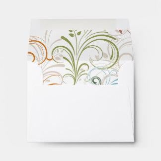 Fancy Colorful Floral Swirls Envelope