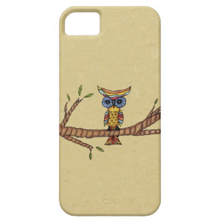 Fancy Colorful Owl Branch iPhone 5 Cases