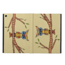 Fancy Colorful Owl Tree Branch Case For iPad Air