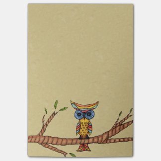 Fancy Colorful Owl Tree Branch Post-it® Notes