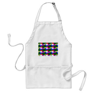 Fancy Colorful Paper Craft Ropes Print on shirts Standard Apron