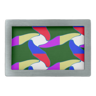 Fancy Colorful Paper Craft Ropes Print on shirts Belt Buckle