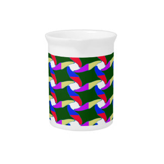 Fancy Colorful Paper Craft Ropes Print on shirts Drink Pitcher