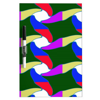 Fancy Colorful Paper Craft Ropes Print on shirts Dry-Erase Board