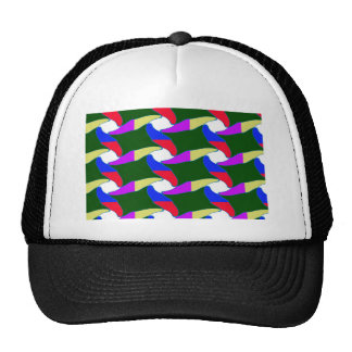 Fancy Colorful Paper Craft Ropes Print on shirts Trucker Hat