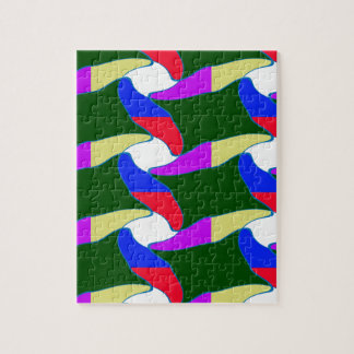 Fancy Colorful Paper Craft Ropes Print on shirts Jigsaw Puzzle