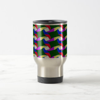 Fancy Colorful Paper Craft Ropes Print on shirts Stainless Steel Travel Mug