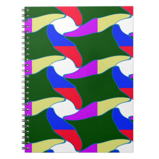 Fancy Colorful Paper Craft Ropes Print on shirts Notebooks