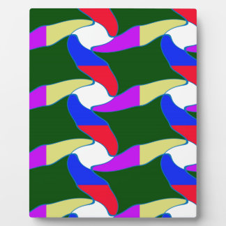 Fancy Colorful Paper Craft Ropes Print on shirts Plaque
